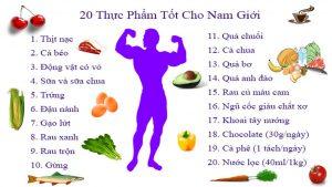 thực phẩm tốt cho sinh lý nam giới